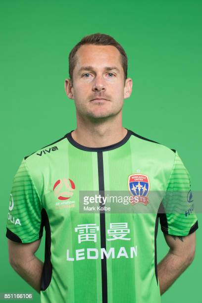 Glen Moss poses during the Newcastle Jets 2017/18 ALeague Season headshots session at Fox Sports Studios on September 22 2017 in Sydney Australia