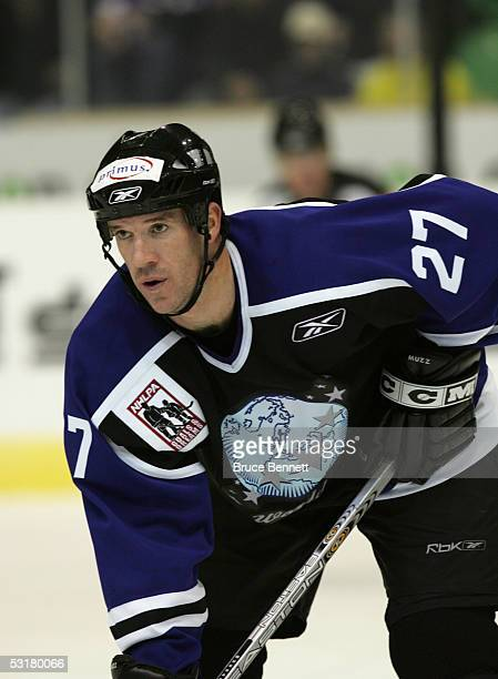 Glen Murray of the Primus Worldstars is on the ice during the game against SC Bern on December 15, 2004 at Bern Arena in Bern, Switzerland. The...