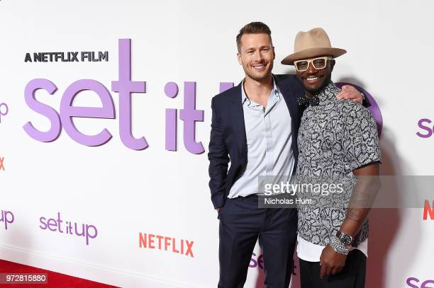 Glen Powell and Taye Diggs attend the 'Set It Up' New York screening at AMC Lincoln Square Theater on June 12 2018 in New York City