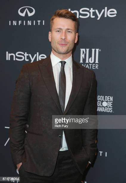 Glen Powell attends the Hollywood Foreign Press Association and InStyle celebrate the 75th Anniversary of The Golden Globe Awards at Catch LA on...