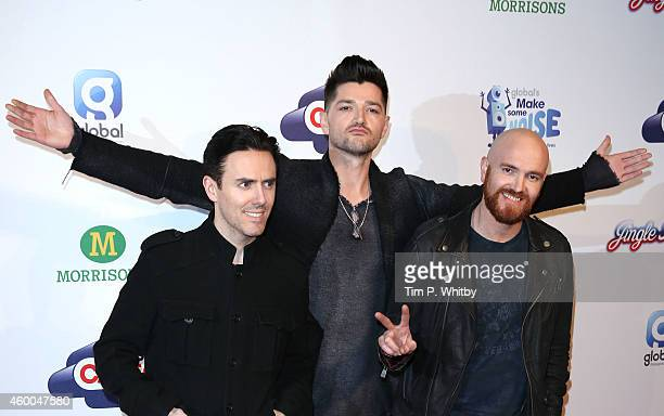 Glen Power Danny O'Donoghue and Mark Sheehan of The Script attend the Jingle Bell Ball at 02 Arena on December 6 2014 in London England