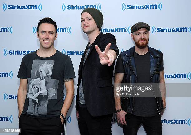 Glen Power Danny O'Donoghue and Mark Sheehan of The Script visit the SiriusXM Studios on June 30 2014 in New York City