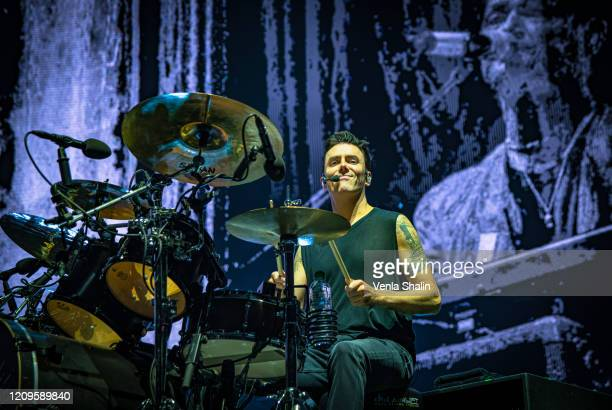 Glen Power of The Scripts performs at the O2 Arena on February 29, 2020 in London, England.