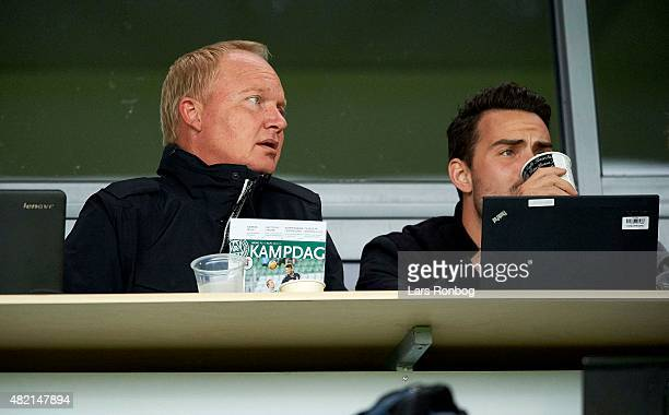 Glen Riddersholm former head coach of FC Midtjylland looks on prior to the Danish Alka Superliga match between Viborg FF and AGF Aarhus at Energi...