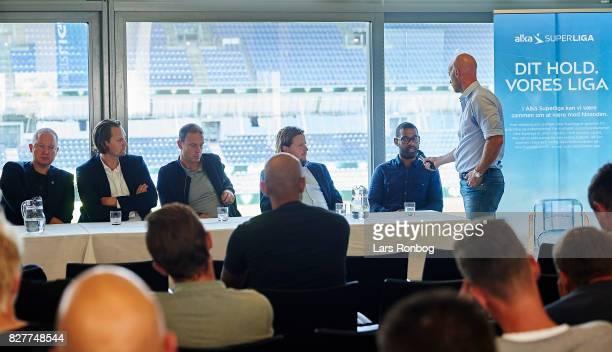 Glen Riddersholm head coach of AGF Aarhus Hans Jorgen Haysen sports director of Sonderjyske Jess Thorup head coach of FC Midtjylland Bo Henriksen...