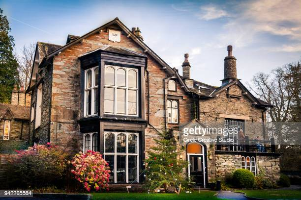 glen rothay inn, at rydal, ambleside - ambleside stock photos and pictures
