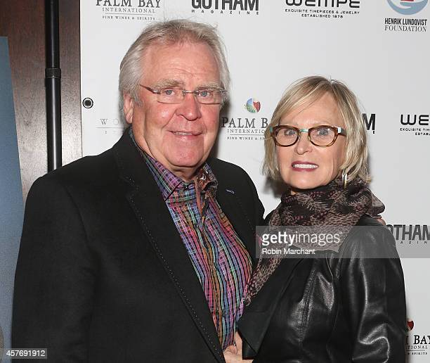 Glen Sather and Ann Sather attend Gotham Magazine Celebrates Cover Star Henrik Lundqvist At Wolfgang's Steakhouse on October 22 2014 in New York City
