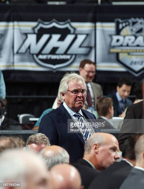 Glen Sather of the New York Rangers attends day two of the 2012 NHL Entry Draft at Consol Energy Center on June 23 2012 in Pittsburgh Pennsylvania