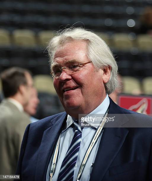 Glen Sather of the New York Rangers attends day two of the 2012 NHL Entry Draft at Consol Energy Center on June 23, 2012 in Pittsburgh, Pennsylvania.