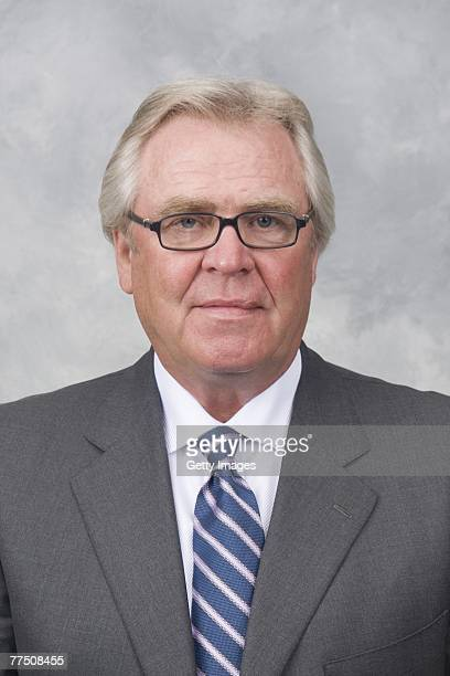 Glen Sather of the New York Rangers poses for his 2007 NHL headshot at photo day in New York New York