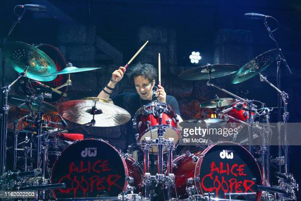 Glen Sobel of the band Alice Cooper performs at the BBT Pavilion August 16 2019 in Camden New Jersey