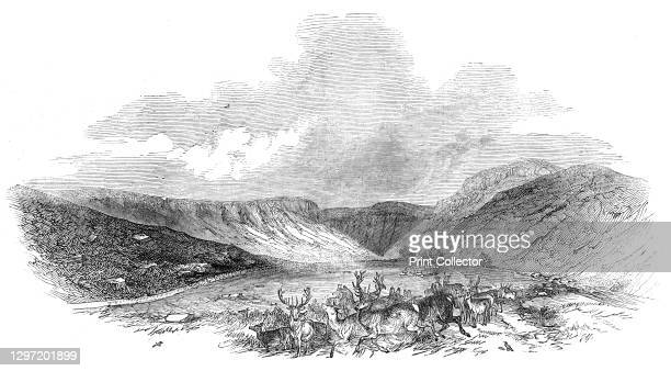 "Glen Tilt, 1844. Valley of the River Tilt in the Scottish Highlands. From ""Illustrated London News"" Vol V. Artist Unknown."