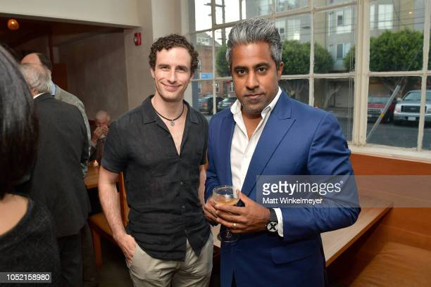 Glen Weyl and Anand Giridharadas attend VIP Dinner For WIRED's 25th Anniversary Hosted By Nicholas Thompson And Anna Wintour at Tartine Manufactory...