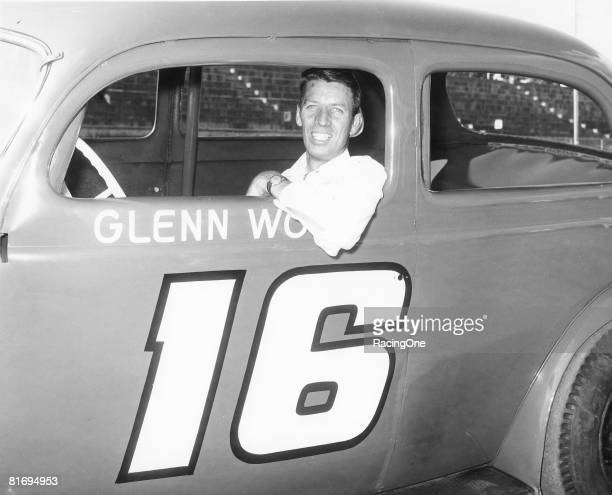 Glen Wood at Bowman Gray Stadium in the early 1950s during weekly NASCAR modified and sportsman racing