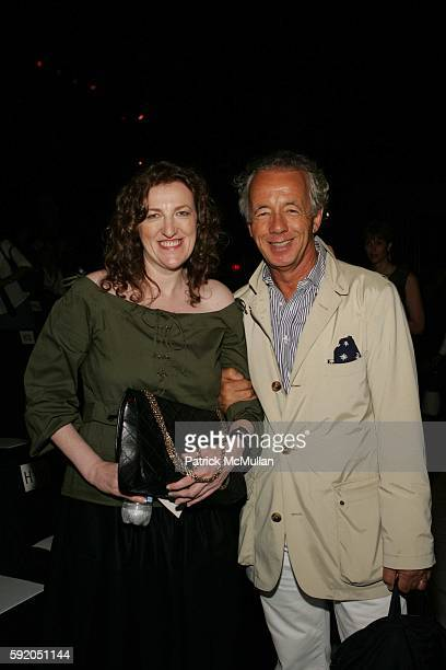 Glena Bailey and Gilles Bensimon attend Vera Wang Spring 2006 Collection at The Tent at Bryant Park on September 15 2005 in New York City