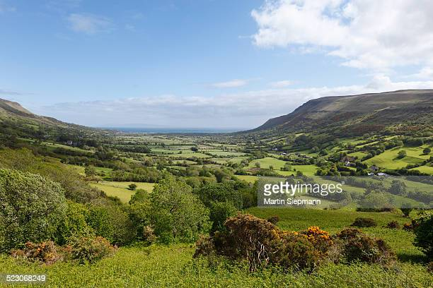 glenariff valley, glens of antrim, county antrim, northern ireland, ireland, great britain, europe - county antrim stock pictures, royalty-free photos & images
