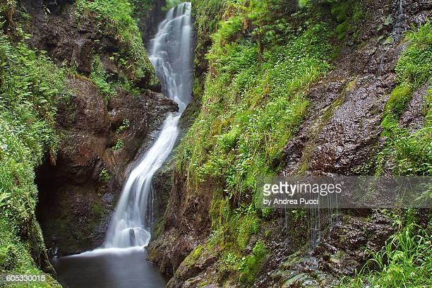 glenariff waterfalls, northern ireland, uk - county antrim stock pictures, royalty-free photos & images
