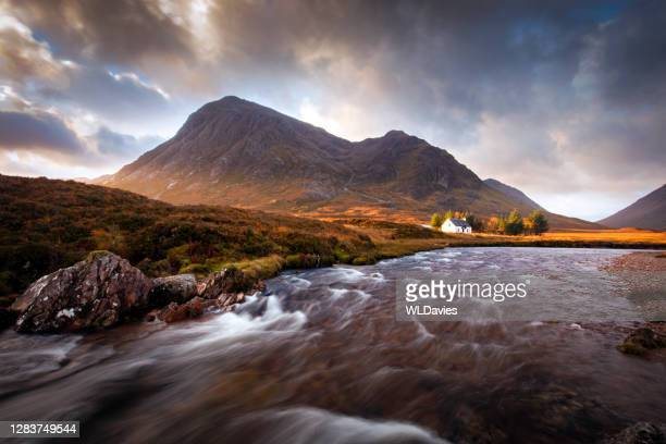 glencoe sunrise - river stock pictures, royalty-free photos & images