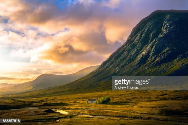 glencoe sunrise - glencoe scotland stock pictures, royalty-free photos & images