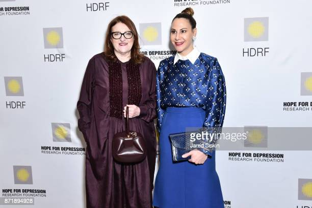 Glenda Bailey and Alyson Cafiero attend Hope for Depression Research Foundation's 11th Annual Luncheon Honoring Ashley Judd at The Plaza Hotel on...