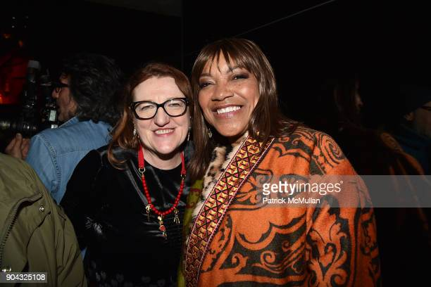 Glenda Bailey and Grace Hightower attend The Cinema Society Bluemercury host the after party for IFC Films' 'Freak Show' at Public Arts on January 10...
