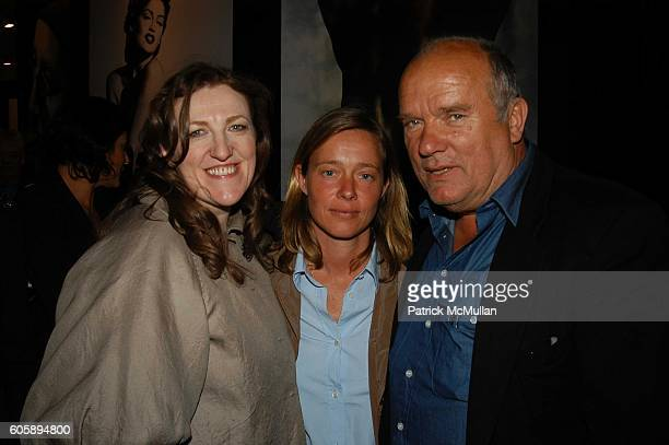 Glenda Bailey Petra Lindbergh and Peter Lindbergh attend Pirelli book launch of The Cal Backstage 19642005 at Solomon R Guggenheim Museum NYC on...