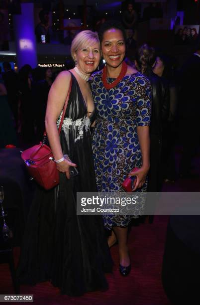 Glenda Gray and MaryAnn Etiebet attend the 2017 Time 100 Gala at Jazz at Lincoln Center on April 25 2017 in New York City