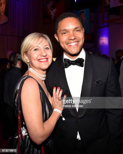 Glenda Gray and Trevor Noah attend the 2017 TIME 100 Gala at Jazz at Lincoln Center on April 25 2017 in New York City