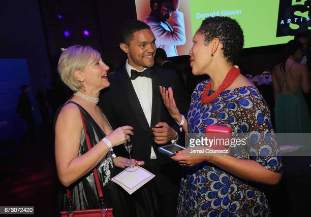 Glenda Gray Trevor Noah and MaryAnn Etiebet attends the 2017 Time 100 Gala at Jazz at Lincoln Center on April 25 2017 in New York City