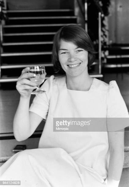 Glenda Jackson, actress, toasts to the success of the Old Vic theatre , she appears in the first production, The White Devil by John Webster,...