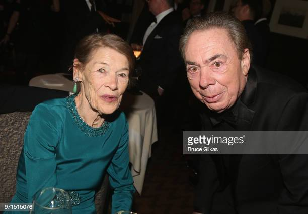 Glenda Jackson and Lord Andrew Lloyd Webber pose at the 2018 OM Private Tony After Party at The Carlysle Hotel on June 10 2018 in New York City