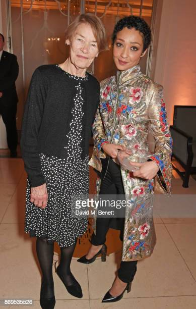 Glenda Jackson and Ruth Negga winner of the Women of the Year award attends Harper's Bazaar Women of the Year Awards in association with Ralph Russo...