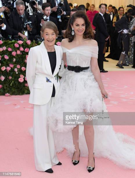 Glenda Jackson and Ruth Wilson arrive for the 2019 Met Gala celebrating Camp Notes on Fashion at The Metropolitan Museum of Art on May 06 2019 in New...