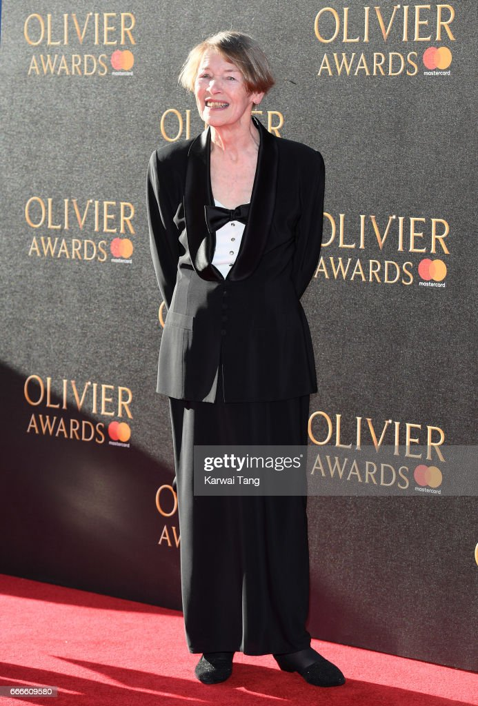 Glenda Jackson arrives for The Olivier Awards 2017 at the Royal Albert Hall on April 9, 2017 in London, England.