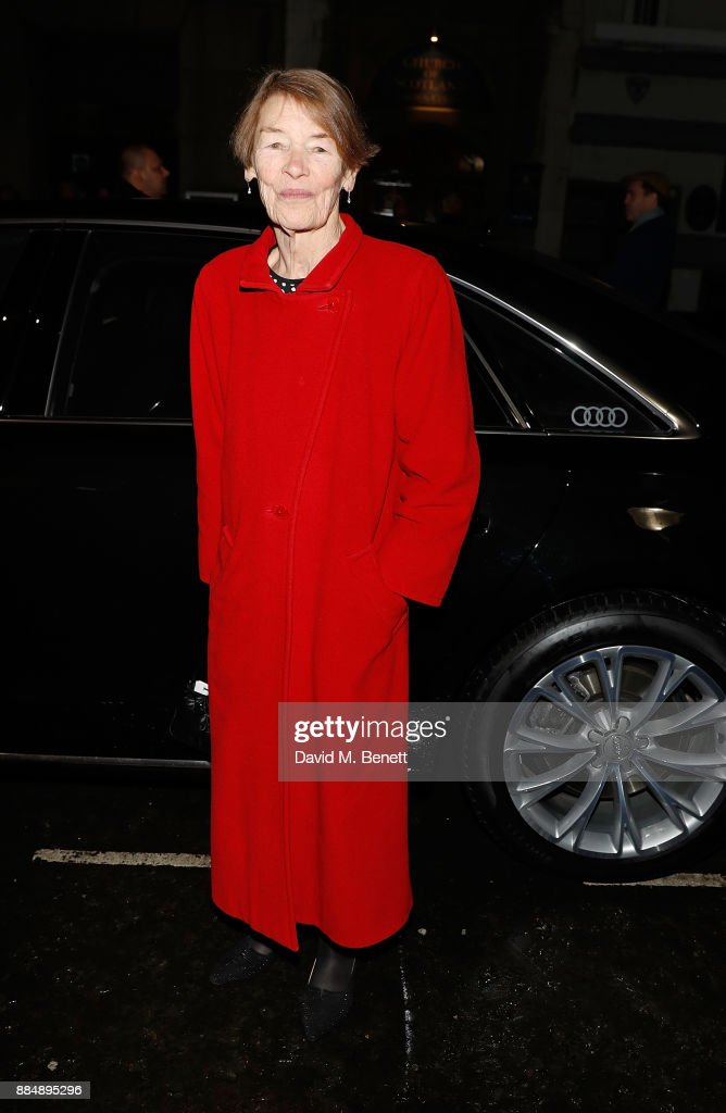 Glenda Jackson arrives in an Audi at the Evening Standard Theatre Awards at Theatre Royal on December 3, 2017 in London, England.