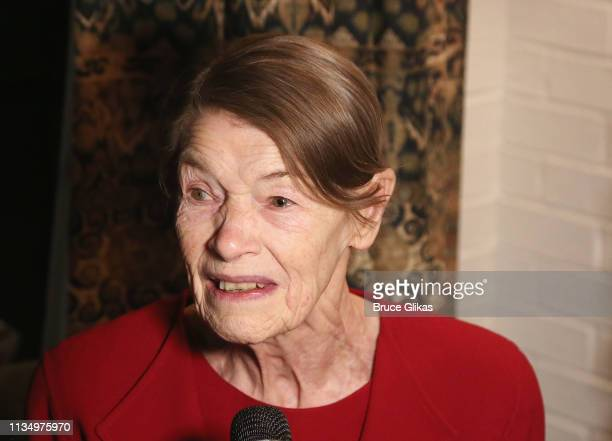 Glenda Jackson at the opening night after party for the new production of King Lear on Broadway at The Bowery Hotel on April 4 2019 in New York City