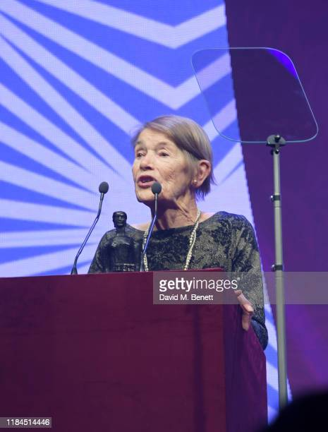 Glenda Jackson attends the 65th Evening Standard Theatre Awards in association with Michael Kors at the London Coliseum on November 24 2019 in London...