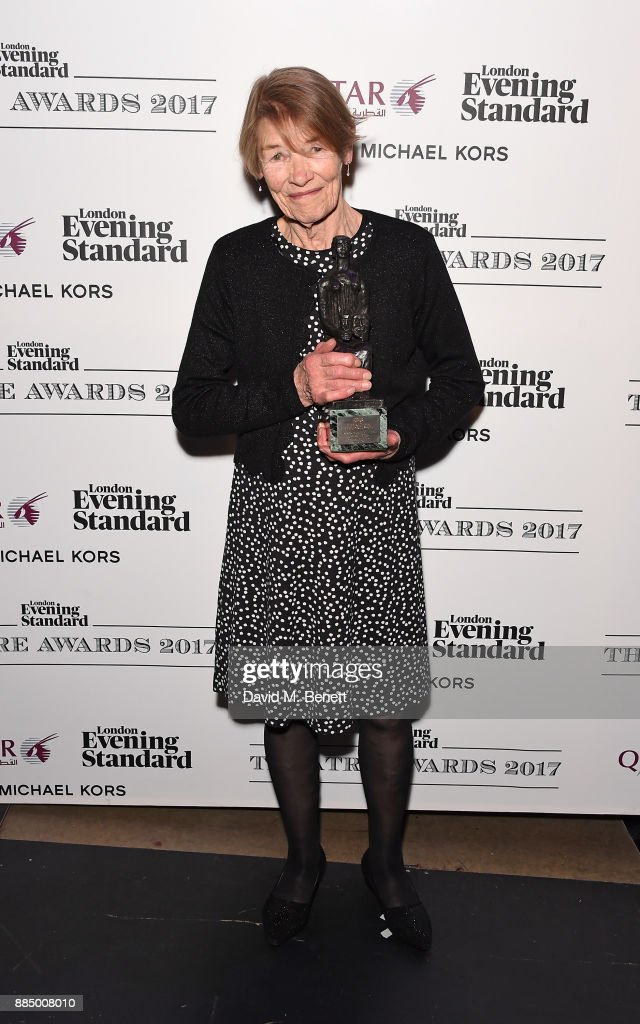 Glenda Jackson poses at the London Evening Standard Theatre Awards 2017 at the Theatre Royal, Drury Lane, on December 3, 2017 in London, England.