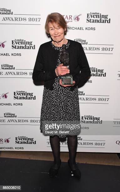 Glenda Jackson poses at the London Evening Standard Theatre Awards 2017 at the Theatre Royal Drury Lane on December 3 2017 in London England
