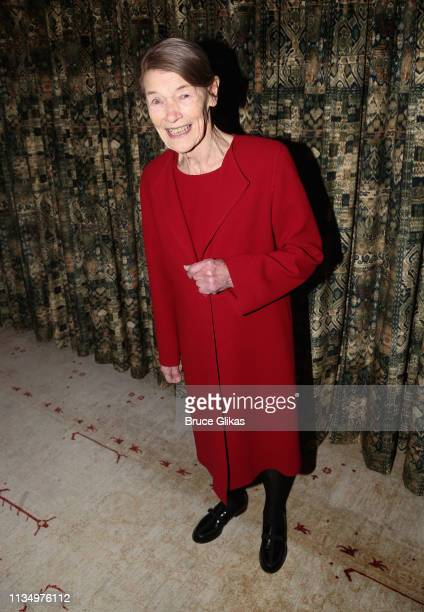 Glenda Jackson poses at the opening night after party for the new production of King Lear on Broadway at The Bowery Hotel on April 4 2019 in New York...