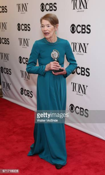 Glenda Jackson poses in the 72nd Annual Tony Awards Press Room at 3 West Club on June 10 2018 in New York City