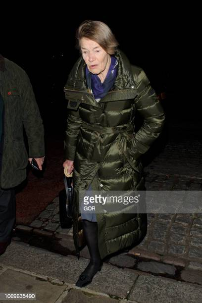 Glenda Jackson seen attending the Evgeny Lebedev Christmas Party in North London on December 7 2018 in London England