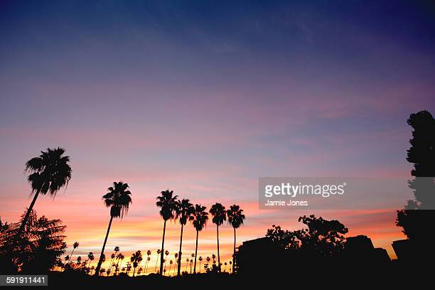 glendale sunset - san fernando california stock photos and pictures