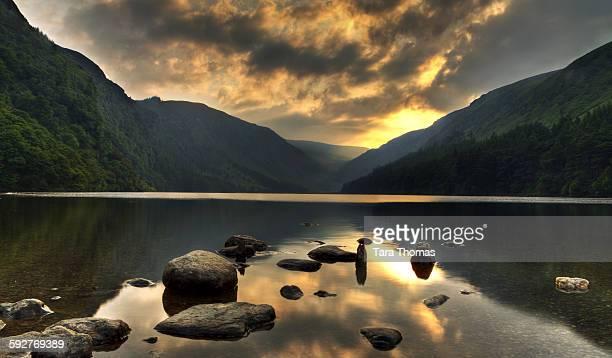 Glendalough Ireland at Sunset