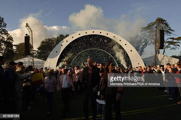 Glendryth and Ian Woosnam and Melissa and Tom Lehman leaving Closing Ceremonies at the Ryder Cup held at The KClub in Straffan Ireland Sunday...