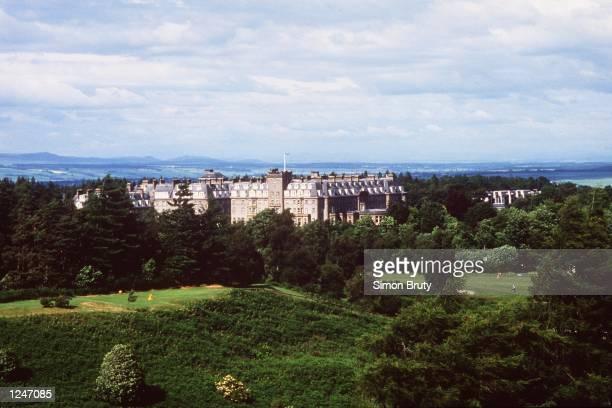 Gleneagles Hotel at Gleneagles Golf Club, Kings Course, Scotland. Mandatory Credit: Simon Bruty/ALLSPORT