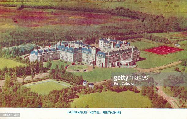 Gleneagles Hotel, Perthshire', circa 1930. Gleneagles Hotel, Perth, Scotland. The hotel opened in 1924, built by the former Caledonian Railway...