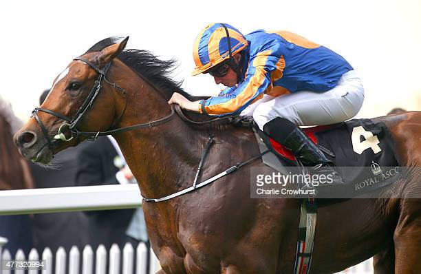 Gleneagles ridden by jockey Ryan Moore wins The St James's Palace Stakes race during Royal Ascot 2015 at Ascot racecourse on June 16 2015 in Ascot...