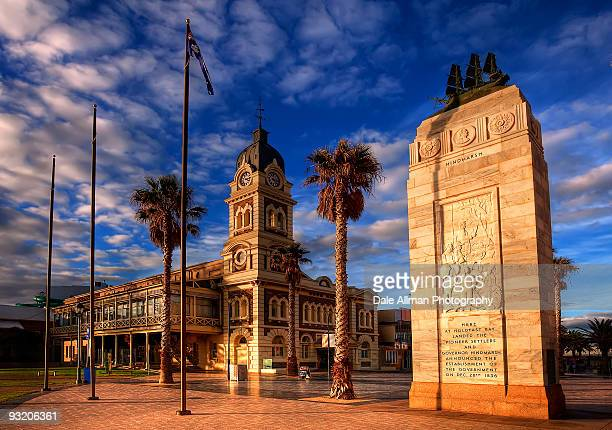 glenelg town hall - adelaide stock pictures, royalty-free photos & images