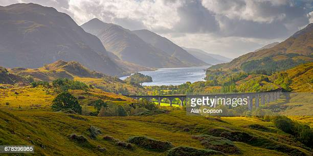 Glenfinnan Railway Viaduct, part of the West Highland Line, Glenfinnan, Loch Shiel, Highlands, Scotland, United Kingdom, Europe